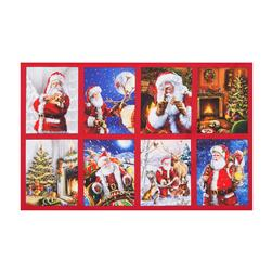 "Kaufman Jolly Saint Nick Digital 23.5"" Panel Holiday"