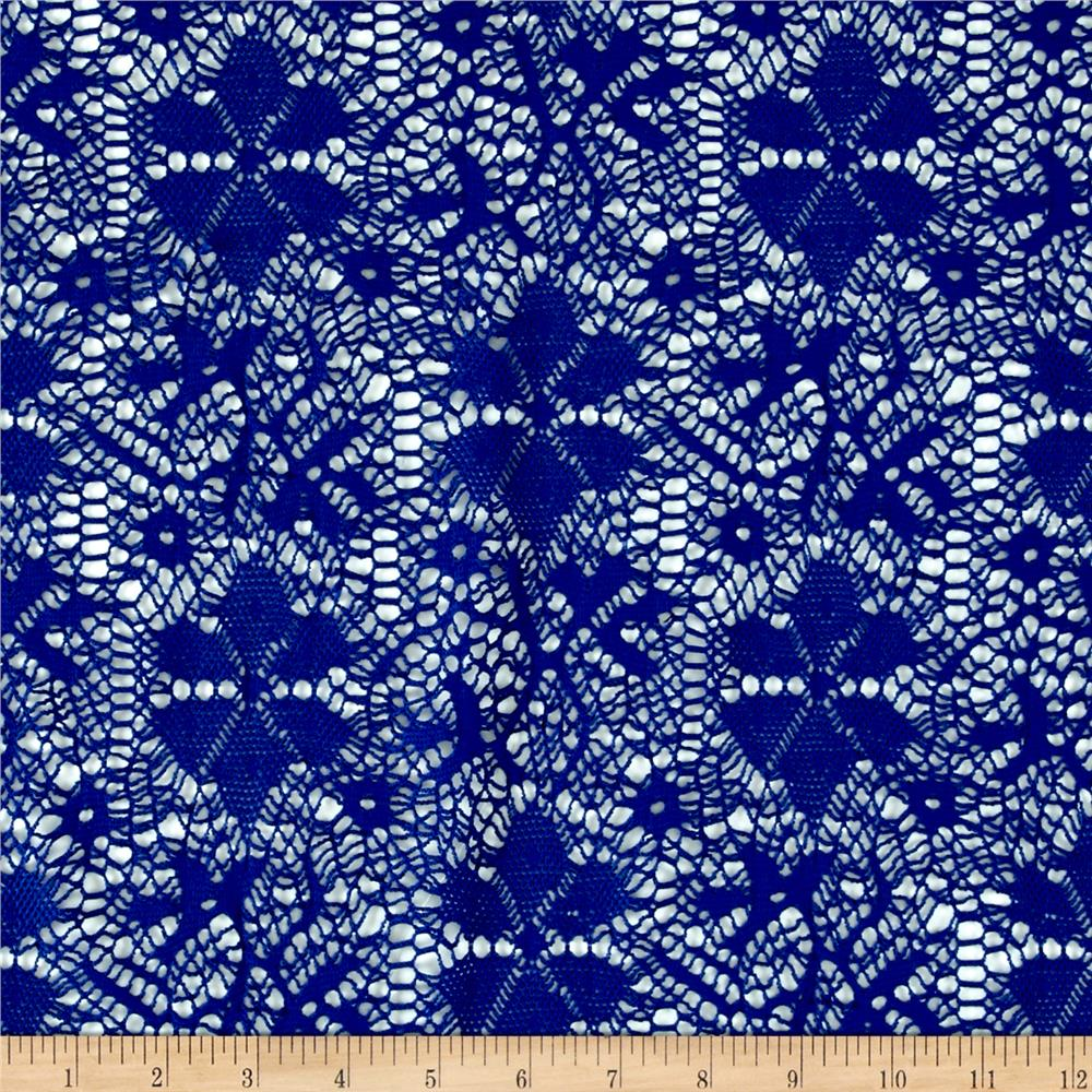 Designer Crochet Lace Royal