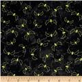 Maywood Studio Halloweenie Stitchy Bats Black/Green