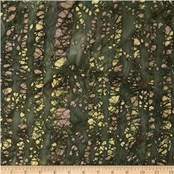 Indian Batiks Bark Tan/Green