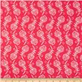 Contempo Feathers Hot Pink/White