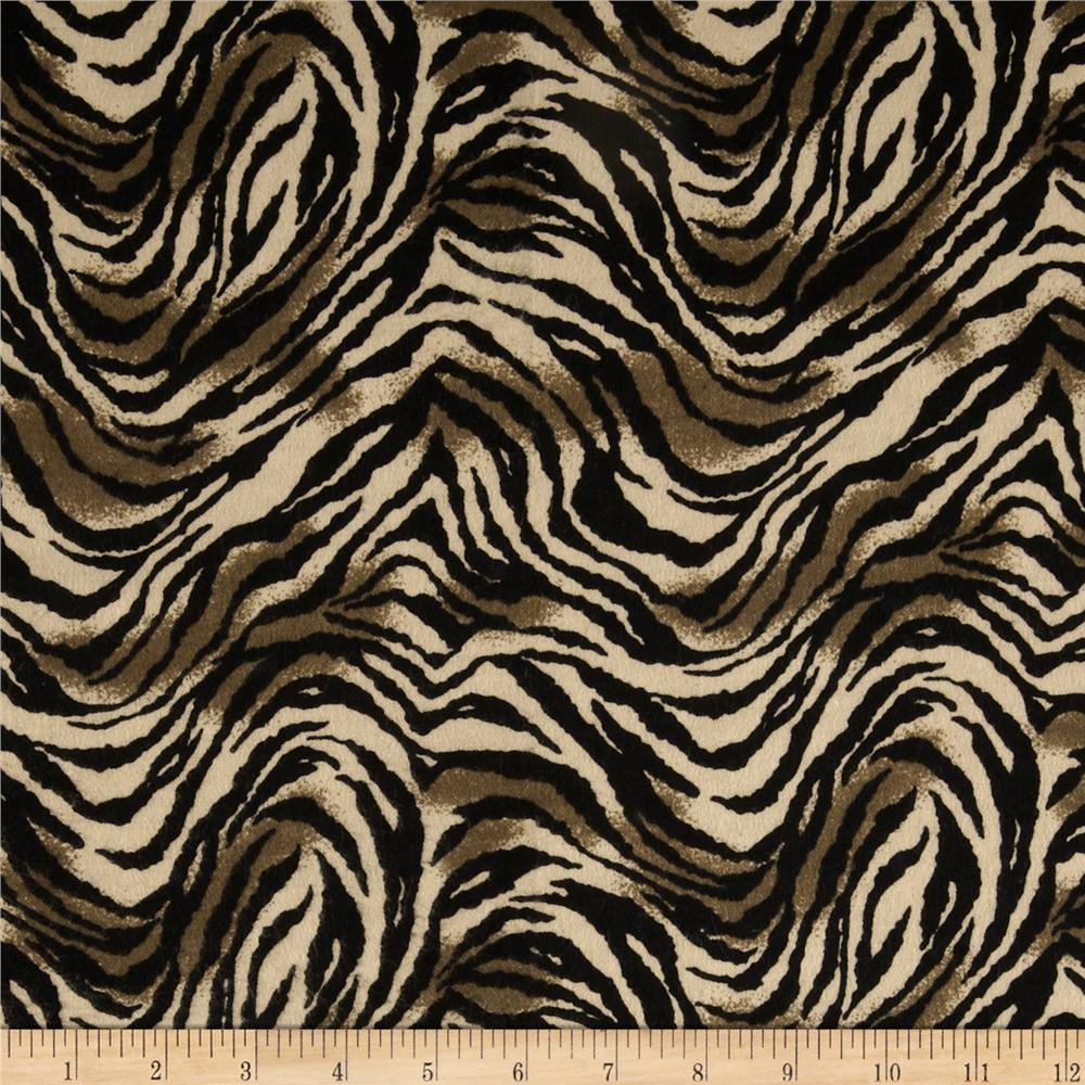 Newcastle Flannel Tiger Print Taupe