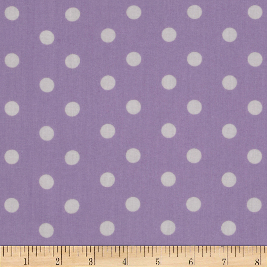Baby Talk Aspirin Dot Lavender/White Fabric