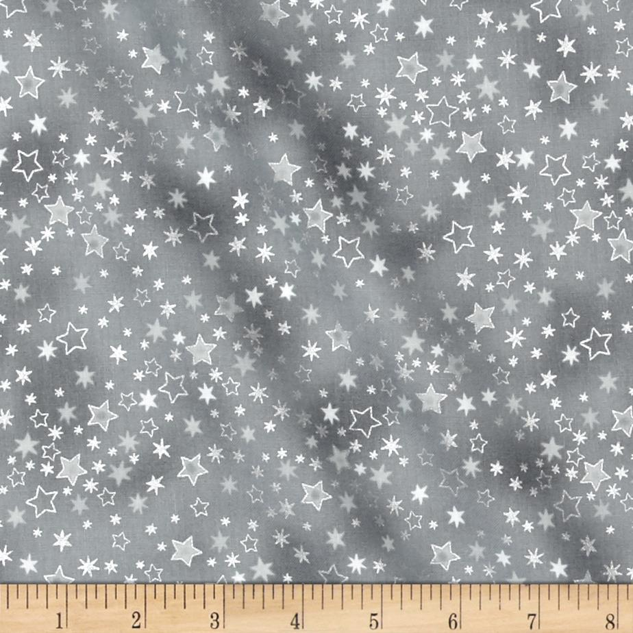 Glimmering Tossed Stars Grey/Silver