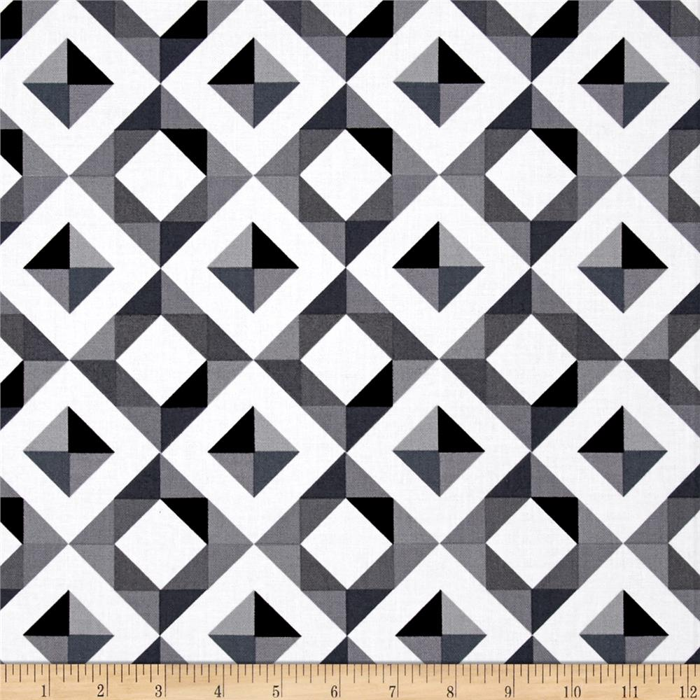Kaufman Geo Pop Canvas Home Decor Diamond Plaid