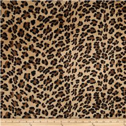 Minky Baby Leopard Cuddle Camel Brown Fabric