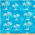 Indian Batik Palm Trees Aqua