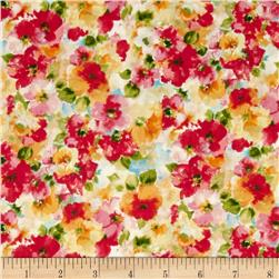 Kaufman London Calling Lawn Water Color Floral Bright