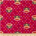 Paul Frank Julius & Mini Hearts Flannel Pink