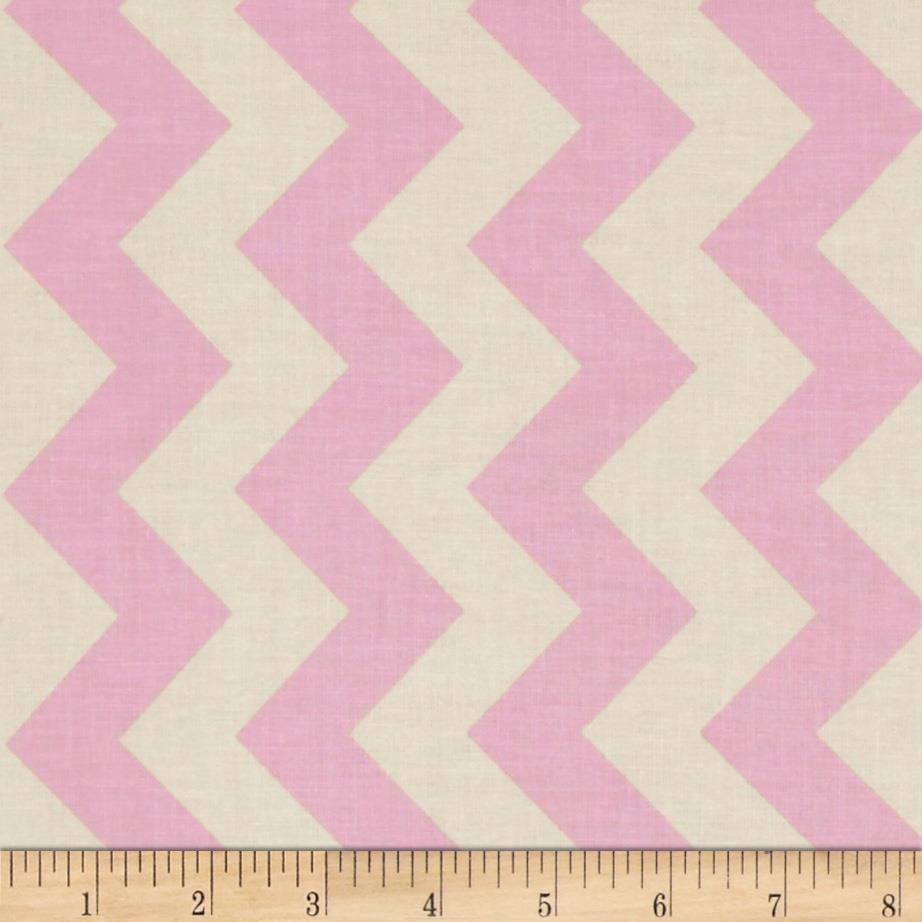 Riley Blake Le Creme Basics Chevron Baby Pink/Cream