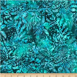 Island Batik Running Water Turtles Turquoise