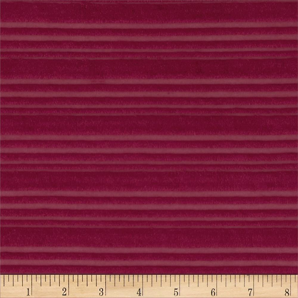 Novelty Terry Cloth Knit Magenta