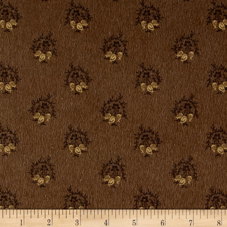 Cozies Flannel Lg Foulard Brown Fabric