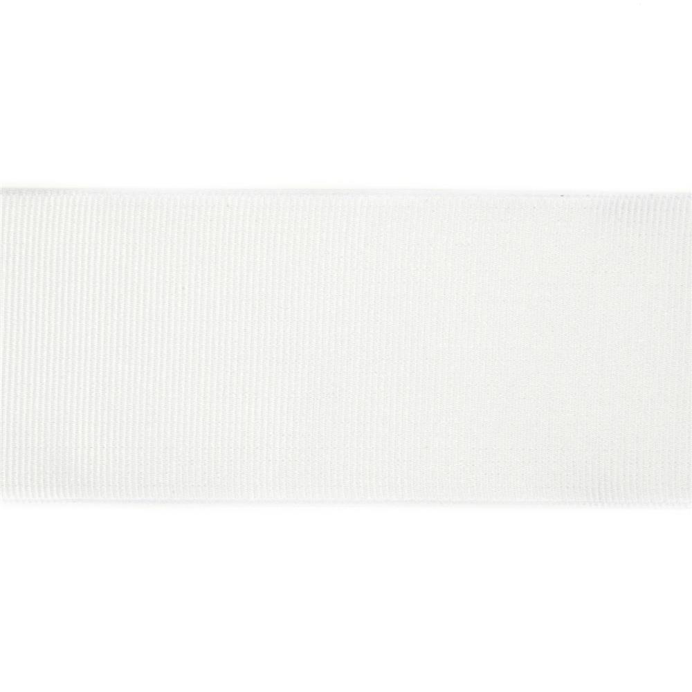 "2"" Grosgrain Wired Ribbon White"