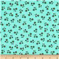 Timeless Treasures Crafty Gemini Dominicana Small Tossed Floral Aqua