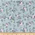 Primrose Floral Spray Dove Grey