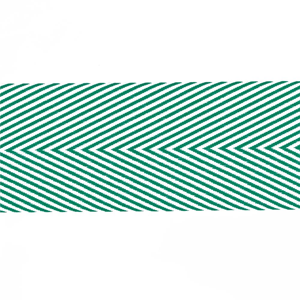 "May Arts 1 1/2"" Chevron Twill Ribbon Spool Green"