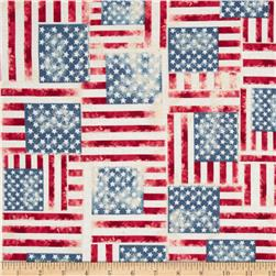 Kanvas Celebrate II USA Flag Denim Washed Fabric