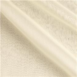 Poly Two Tone Chiffon Dark Ivory Fabric