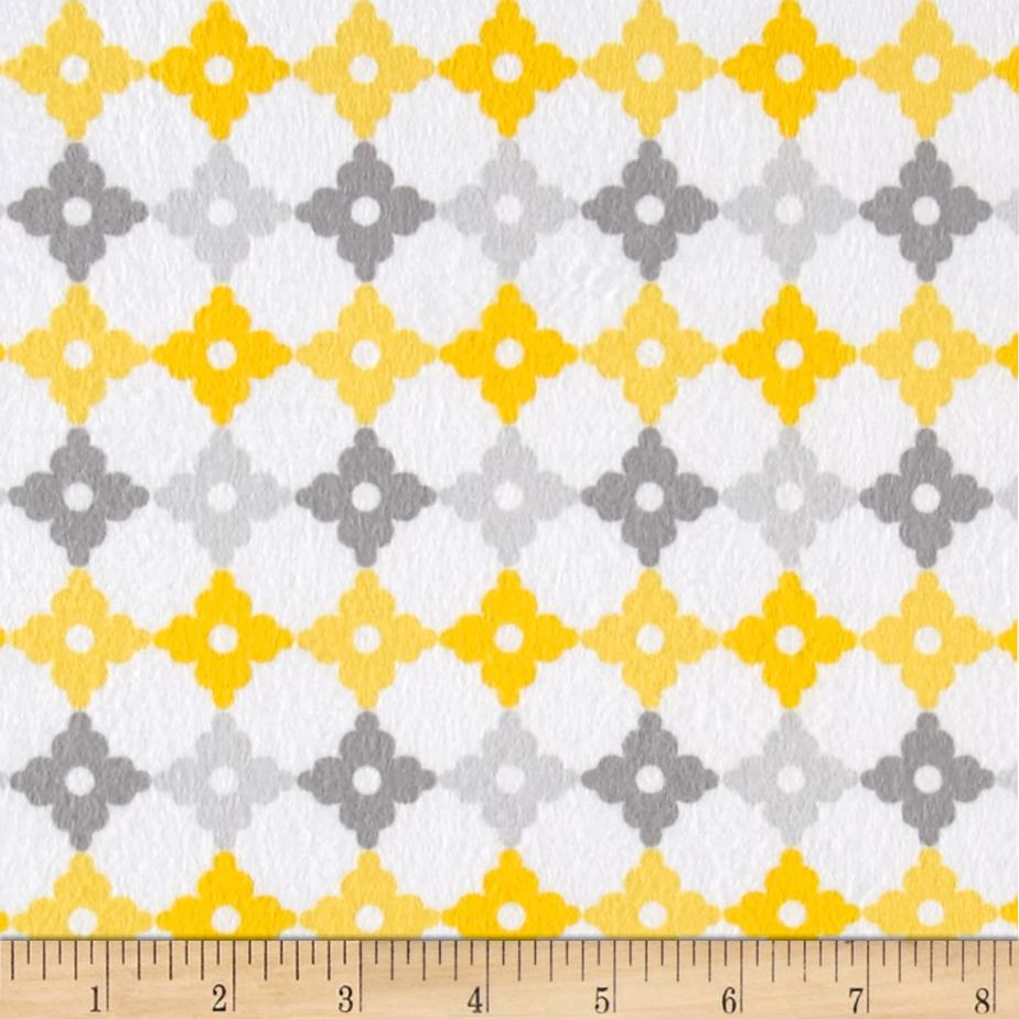 Kaufman Cozy Cotton Flannel Geo Plaid Yellow Fabric By The Yard