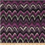 Lacey Sweater Knit Chevron Purple
