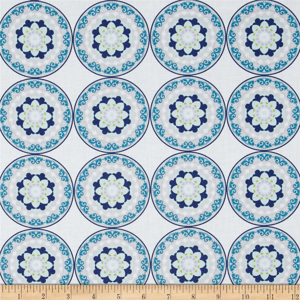 Silk Road Decorative Circles White/Multi