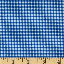 Basic Training Small Gingham Royal/White
