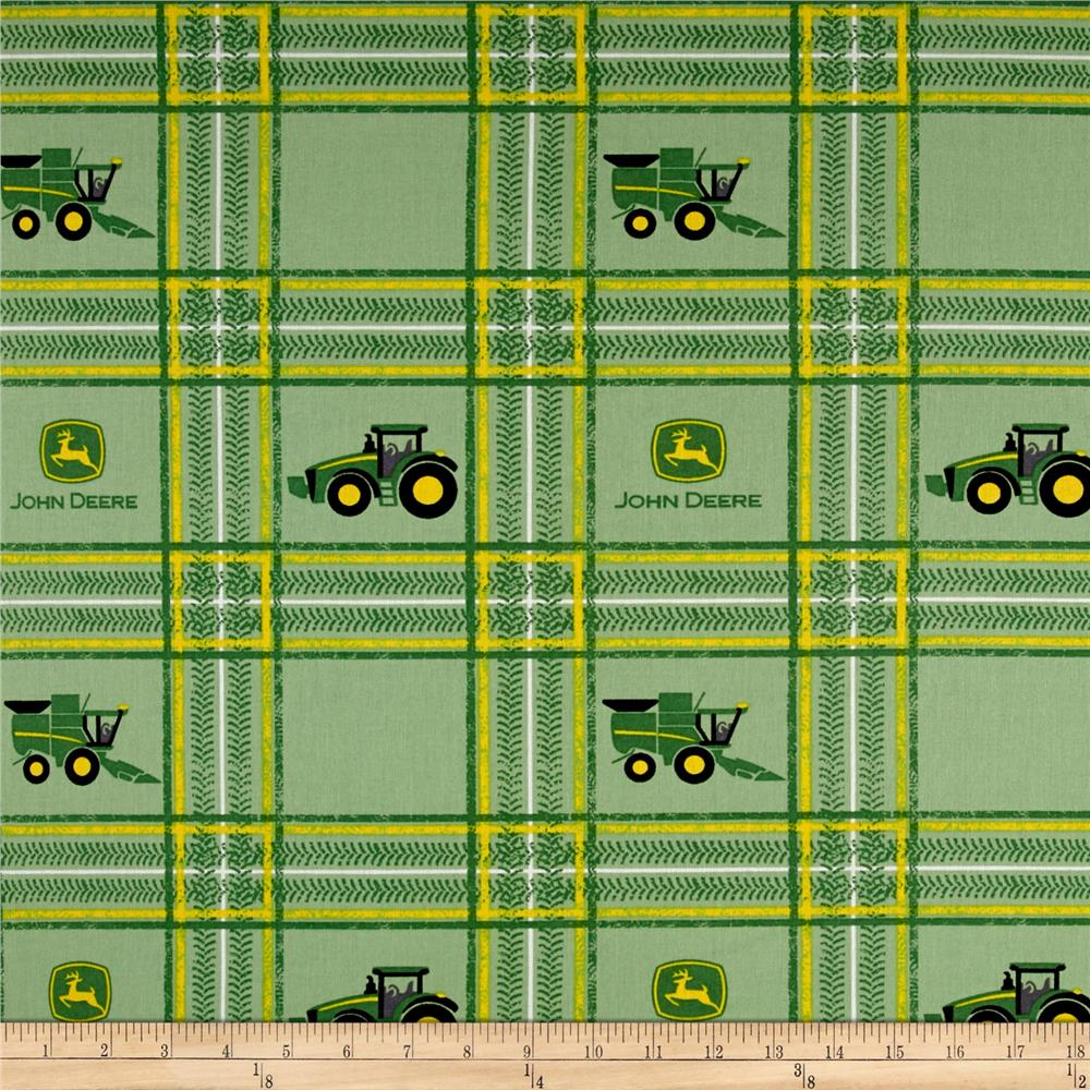 John Deere Tractor Plaid Multi