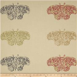 Moda Woodland Summer Large Woodland Butterflies Ivory