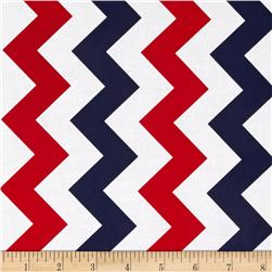 Riley Blake Medium Chevron Patriotic Fabric