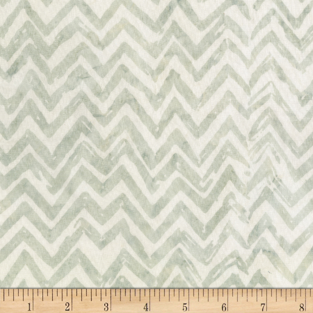 Anthology Batiks Chevron Mist Fabric