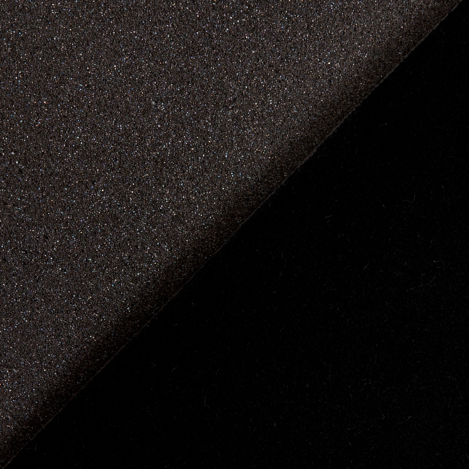 Foam-Backed Automotive Headliner Black Fabric