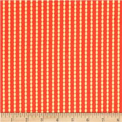 Moda Sundrops Beaded Stripe Dark Coral