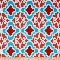 Butterfly Garden Lattice Red