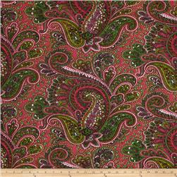 Premier Prints Paisley Candy Pink/Green Fabric