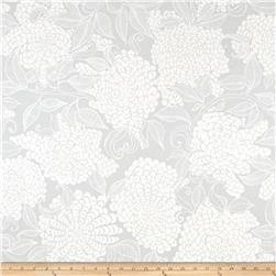Kaufman Mystic Canvas By Valori Wells Floral Bouquet Coastal Fog