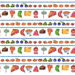 The Very Hungry Caterpillar Stripe Picnic Treats White