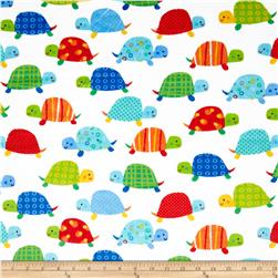 Minky Softie Turtles White