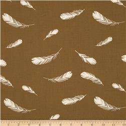 Birch Organic Charley Harper Nurture Feathers Brown