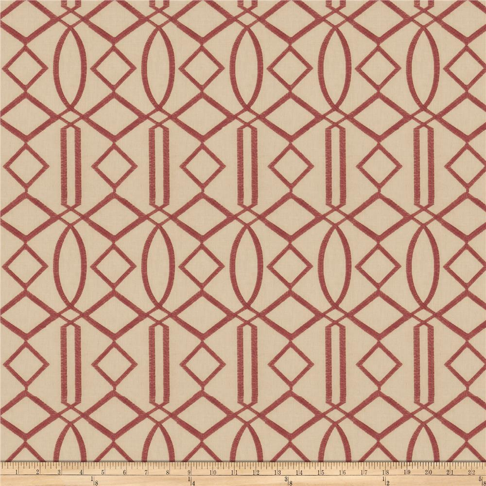 Isabelle De Borchgrave Egyptian Lattice Linen Blend Mulberry