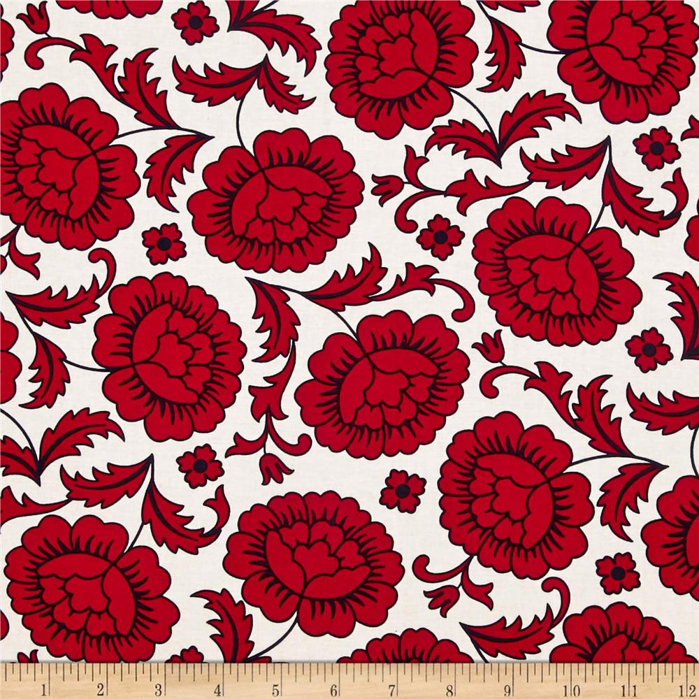 Kanvas Catalina Rose White Red
