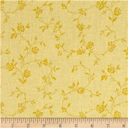 "108"" Wide Quilt Back Petite Fleur Yellow"