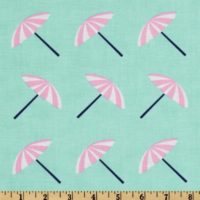 It's A Shore Thing Beach Umbrellas Aqua