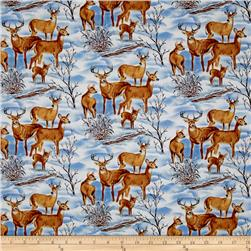 Snowscapes Deer Light Blue