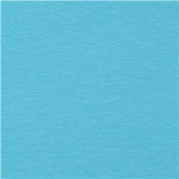 Kaufman Laguna Stretch Jersey Knit Turquoise Fabric