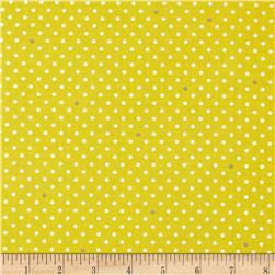 Michael Miller Cynthia Rowley Paintbox Pin Dot Citron