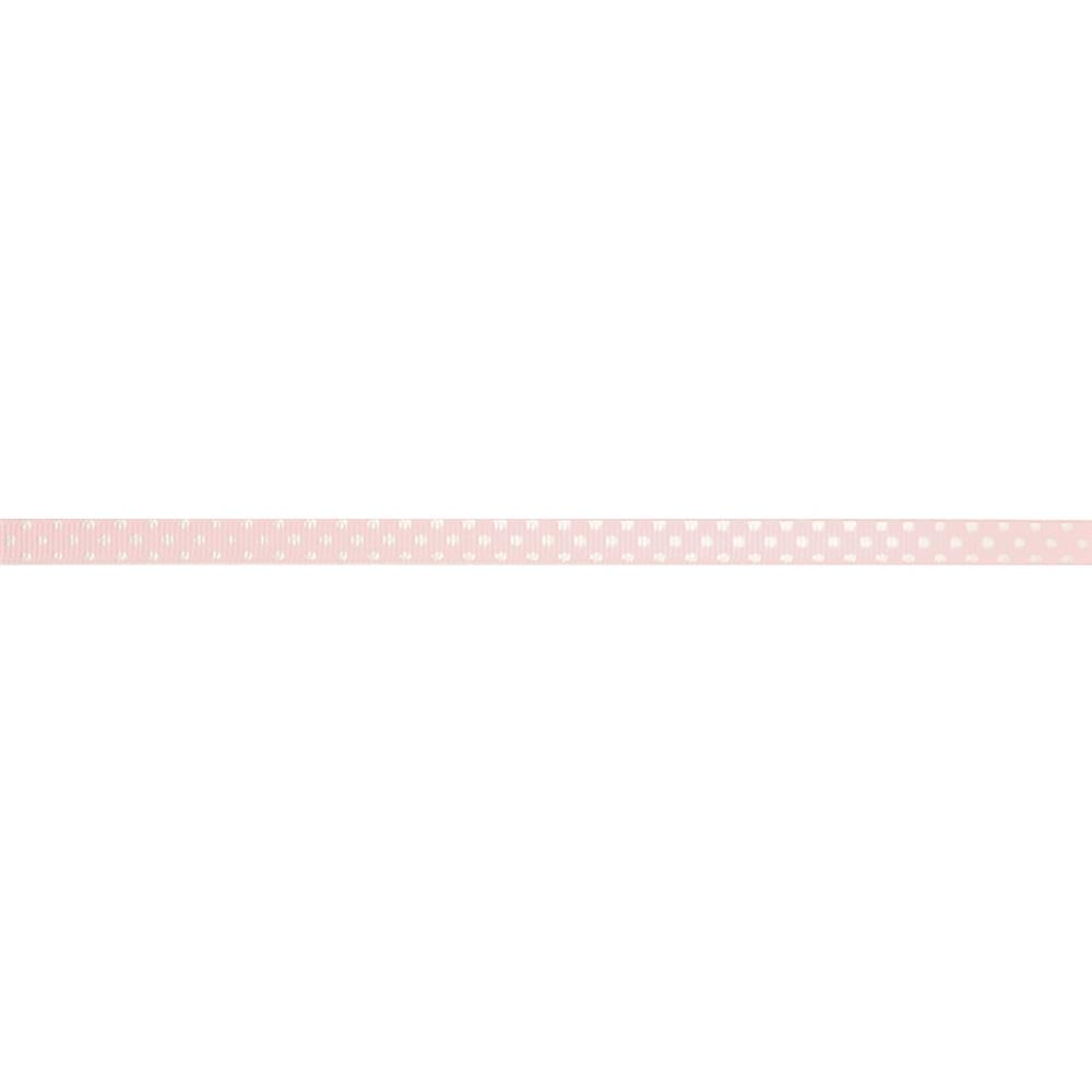 "3/8"" Grosgrain Swiss Dot Ribbon Pink"