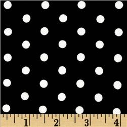Kaufman Laguna Stretch Jersey Knit Polka Dot Black