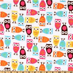 Kaufman Minky Cuddle Night Owl Carnival Fabric
