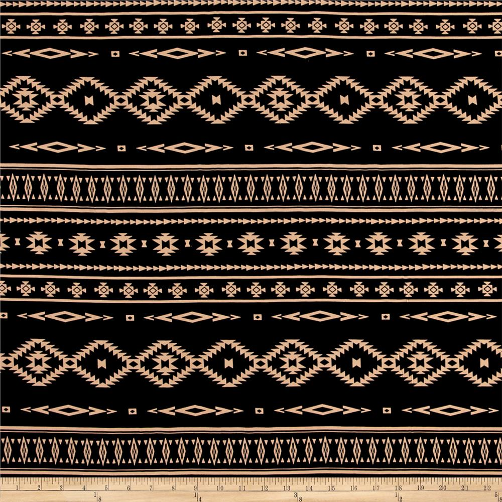 Peachskin Aztec Stripe Black/Tan